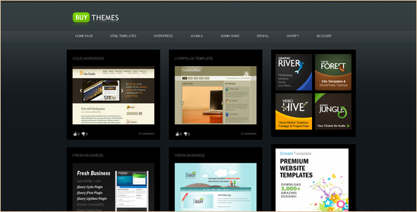 Buy Themes - Gallery Template for Blogger