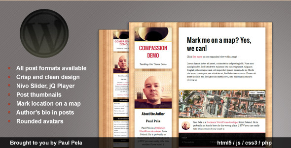 Compassion - Tumblog WordPress Theme