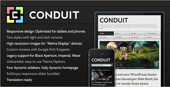 Conduit WordPress Template