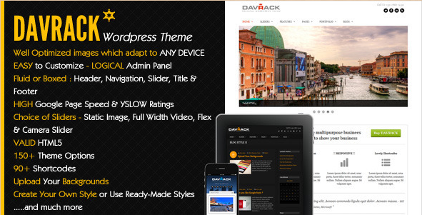Davrack - Multipurpose Corporate WordPress Theme