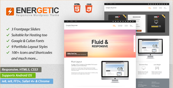 Energetic - Responsive WP Theme
