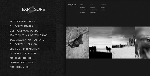 Exposure - Responsive Photography WordPress Theme