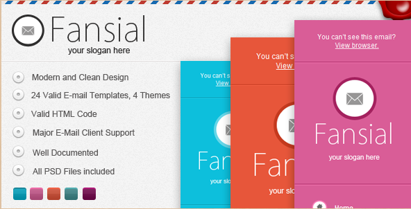 Fansial Email Newsletter Theme