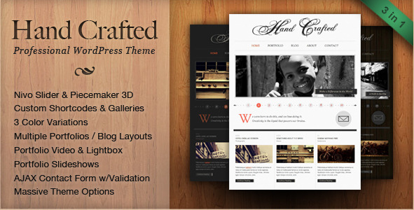 Hand Crafted - Professional WP Template