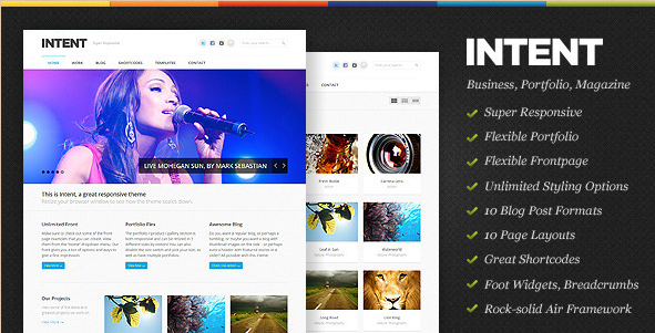 Intent - Business & Portfolio WP Theme