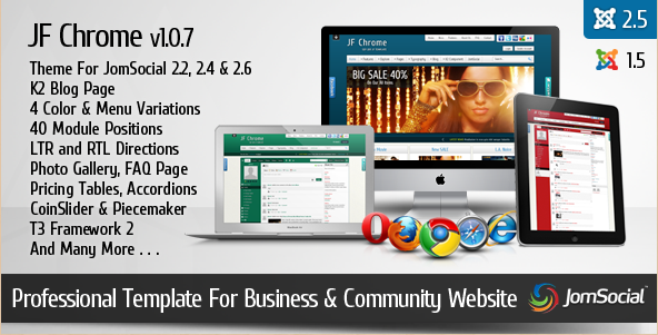 JF Chrome - Professional Joomla Busines Template