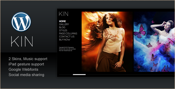 KIN - Minimalist Photography WP Theme