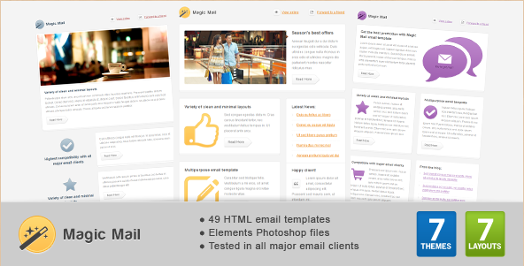 Magic Mail - HTML Email Template