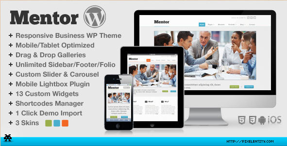 Mentor - Premium HTML5 WordPress Corporate Theme