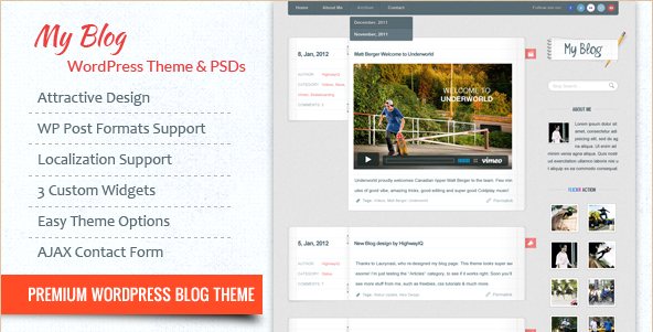 My Blog - WordPress Template