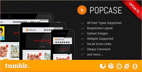 POPCASE - Premium Tumblr Theme