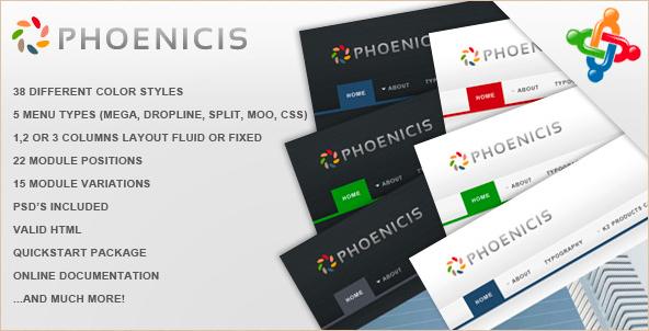 Phoenicis - Premium Joomla Theme