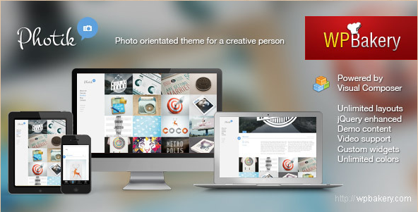 Photik - Responsive Portfolio and Blog WordPress Template
