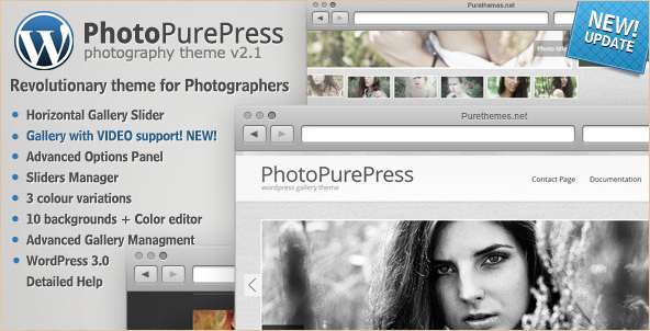 PhotoPurePress - WP for Photographers