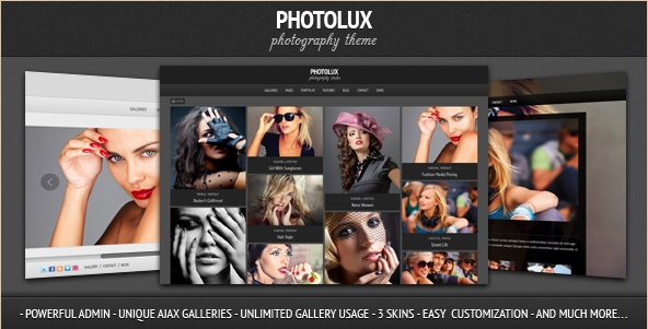 Photolux - WordPress Photography Portfolio Theme
