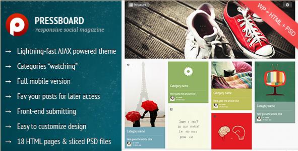 Pressboard - Responsive Social Magazine Theme