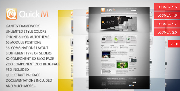 QuickM - Joomla 1.5 template