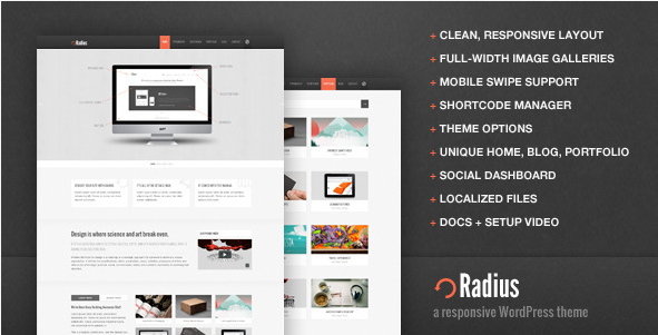 Radius - Responsive WordPress Theme