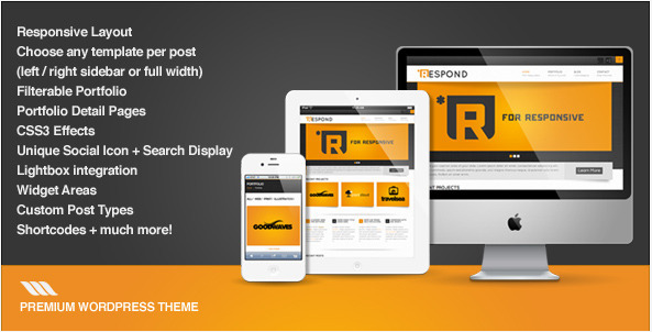 Respond - Premium WordPress Theme