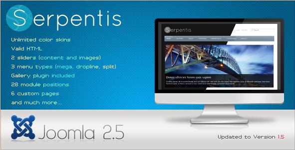 Serpentis - Premium Joomla 2.5 Template