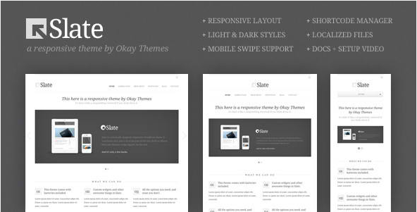 Slate - WordPress Responsive Theme