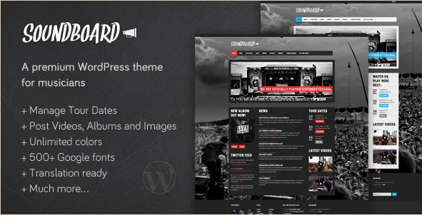 Soundboard - Premium Music WordPress Theme