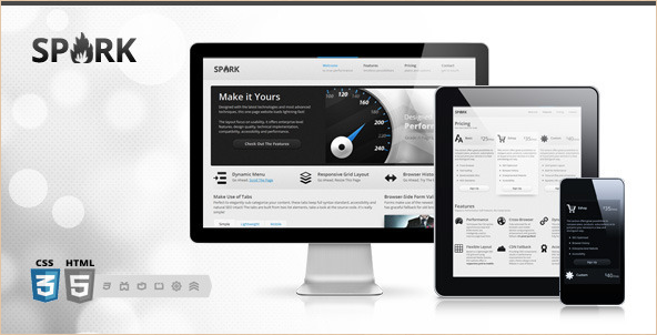Spark - Responsive One-Page HTML5 WP Theme