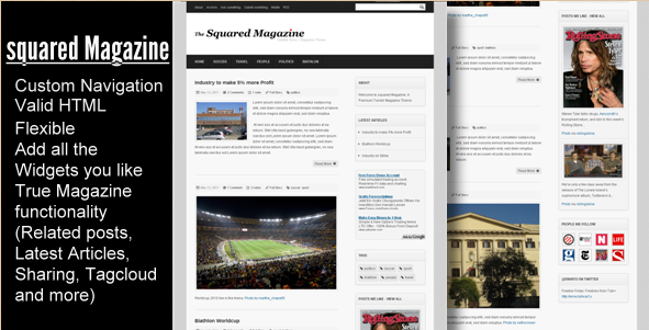 Squared Magazine - Tumblr News and Magazine Theme