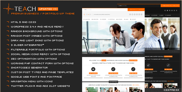 Teach - Flexible Business WP Template