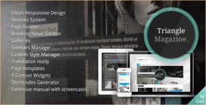 Triangle Magazine - WordPress Magazine Theme