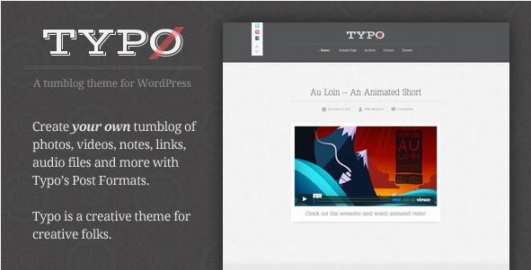 Typo - Tumblog WordPress Theme