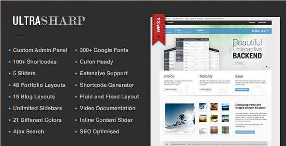 UltraSharp - All Purpose WordPress Theme