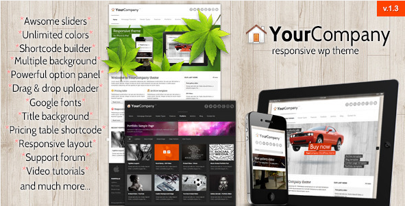 YourCompany - Responsive WordPress Theme