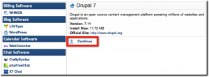 Continue installing Drupal 7