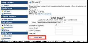Complete Drupal Installation Fields