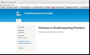 Drupal Login Page after installing on HostGator