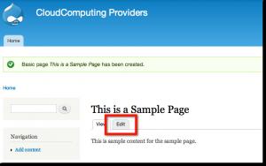 Edit new Drupal page URL