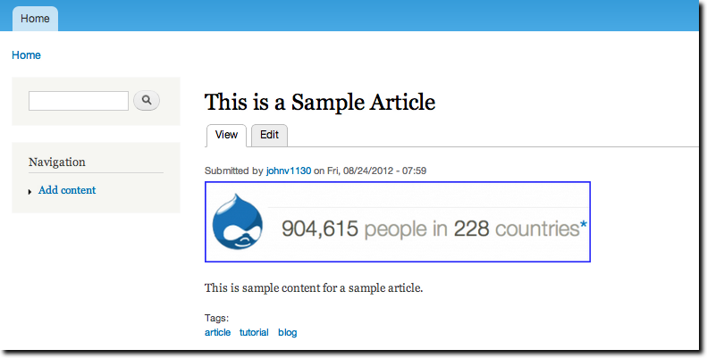 Check your saved article in Drupal