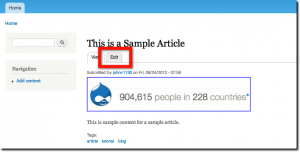 Edit your newly created Drupal post