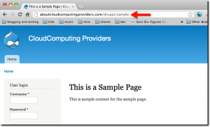 Show off your new descriptive URL Drupal page