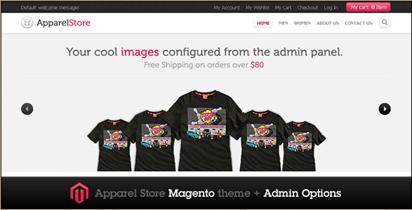Apparel Store - Magento Theme