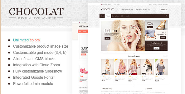 Chocolate - Responsive Magento Theme