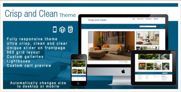 Crisp and Clean - Magento Template