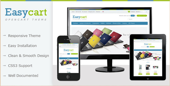 Easycart - Clean and Responsive OpenCart Theme