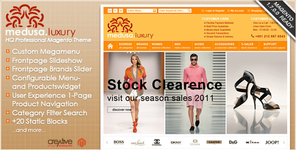 Exdress-Medusa - Fashion Store Magento Theme