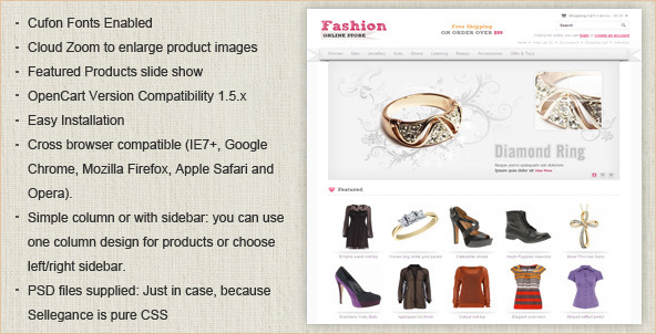 Fashion OpenCart Template