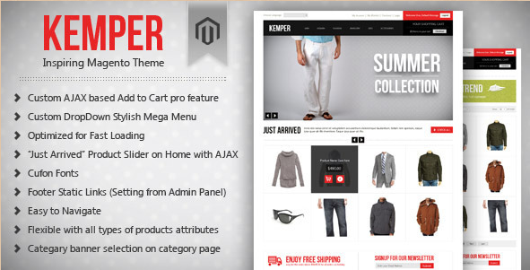 Kemper - Clean Magento Theme