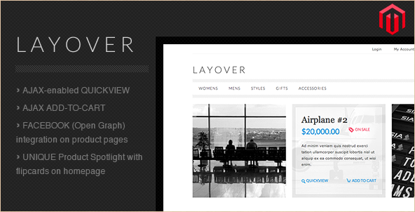 Layover magento theme