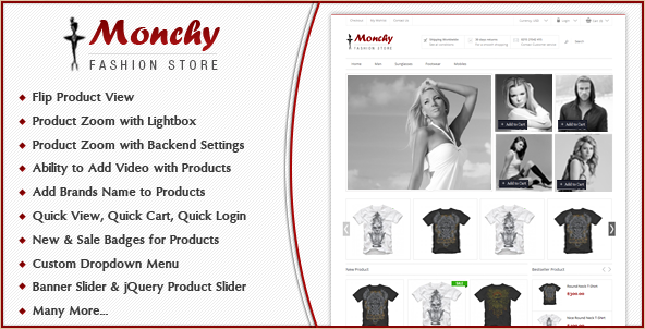 Monchy - Magento fashion theme