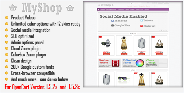 MyShop - OpenCart Template